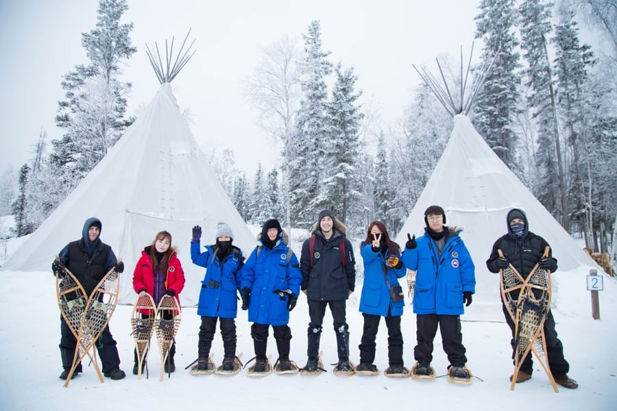 urora-Village-Yellowknife-Northwest-Territories-Canada-snowshoe