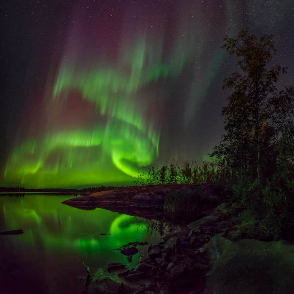 Aurora-Village-Yellowknife-Northwest-Territories-Aurora-Borealis-Yellowknife-Lake-Credit-Gawain-Jones