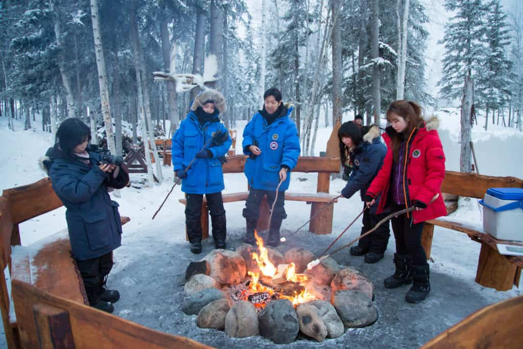 Fire-at-Aurora-Village-yellowknife-northwest-territories-roasting-marshmallows