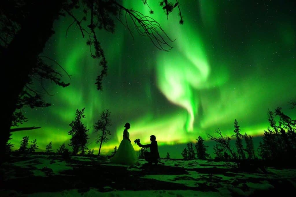 Aurora-Village-Yellowknife-Northwest-Territories-Canada-Aurora-Borealis-Northern-Lights-teepees-Credit-Seji-Romance