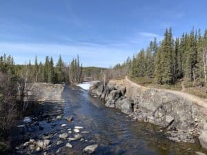 Aurora-Village-Yellowknife-Northwest-territories-summer-cameron-falls-hike-11